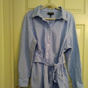 Lane Bryant tied blouse